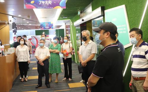 武汉市 、洪山区两级人大代表调研掌游科技  !